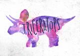 Fototapeta Dinusie - Dynosaur triceratops vivid
