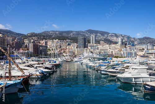 Poster Poort Monaco Monte Carlo Cityscape From Port Hercule