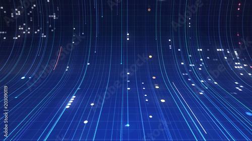 Cuadros en Lienzo  Blue digital background with lines