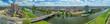 canvas print picture - Luftbild Mannheim und Neckarwiesen