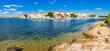 Mediterran Küste Hafen Stadt Porto Colom, Mallorca Spanien Mittelmeer Balearen Insel