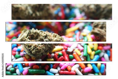 Photo  Cannabis Donut Art