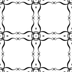 Retro ornamental seamless pattern. Vintage template for design