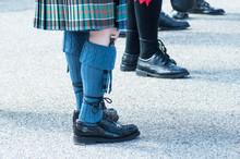 Closeup Of Men Legs With Scott...