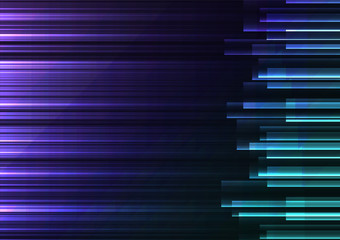 blue ocean frequency bar overlap in dark background, stripe layer backdrop, technology template, vector illustration