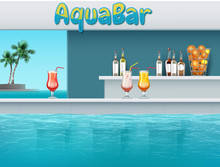 Aqua Bar In Waterpark