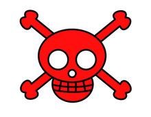 海賊マーク(赤)