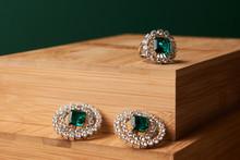 Emerald Ring And Pair Of Diamo...