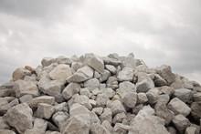 Large Pile Of Grey Bolder Rocks