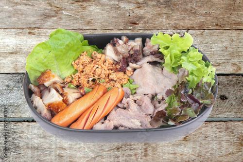 Fotografía  Variety of pork seasoning and serve