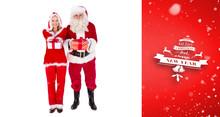 Santa And Mrs Claus Smiling At...