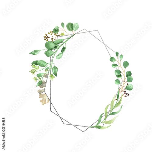 geometryczny-zielony-kwiatowy-wianek