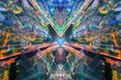 City of art abstract style in business sci fi concept.