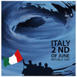Vector illustration abstract background Italy Independence Day of June 2. Designs for posters, backgrounds, cards, banners, stickers, etc