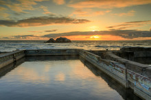 Sunset Over Sutro Baths Ruins....