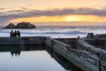 Sunset Over Sutro Baths Ruins....