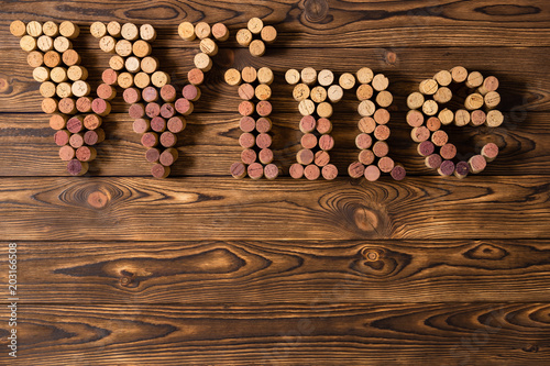 Decorative Wine Corks Spelling The Word Wine Buy This