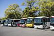 Leinwanddruck Bild - 駐車場に停まっている観光バス