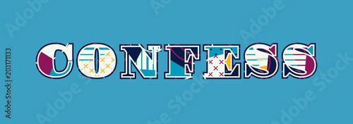 Photo Confess Concept Word Art Illustration