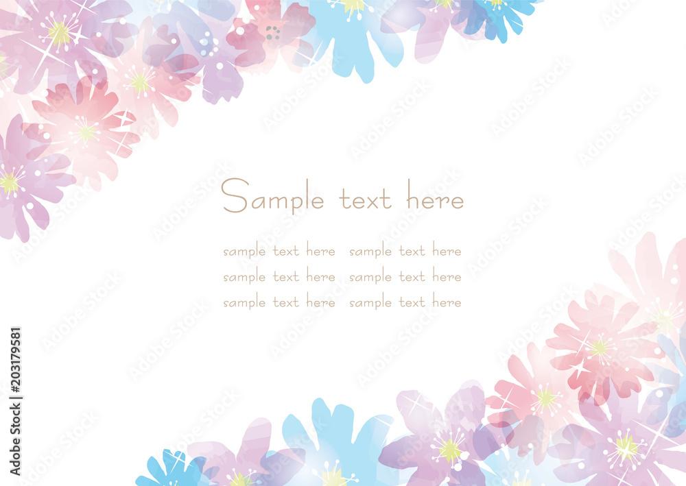 Fototapeta 花のカード