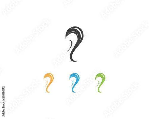 Fényképezés Hear icon  logo design template