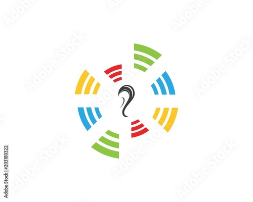 Vászonkép Hear icon  logo design template
