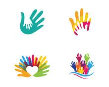 Hand Care Logo Template Vector...