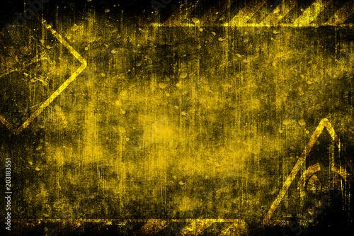 Stampa su Tela Abstract futuristic grunge industrial vintage background