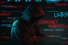 Darknet Market Concept With Fa...