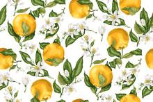 Seamless Pattern With Orange F...