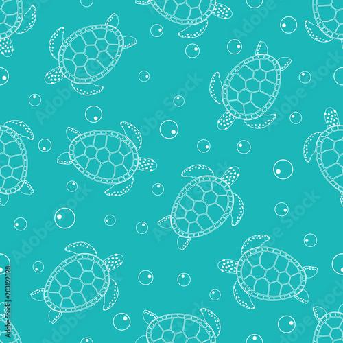 Naklejka premium wzór z żółwiami morskimi 2