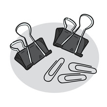 Paper Clip Illustration On A W...