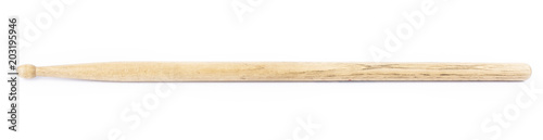 Fotografía  wooden drum stick on white background