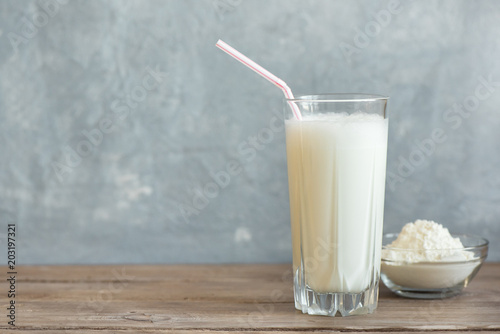 Photo sur Toile Lait, Milk-shake Vanilla Protein Shake