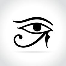 Horus Eye Icon On White Backgr...