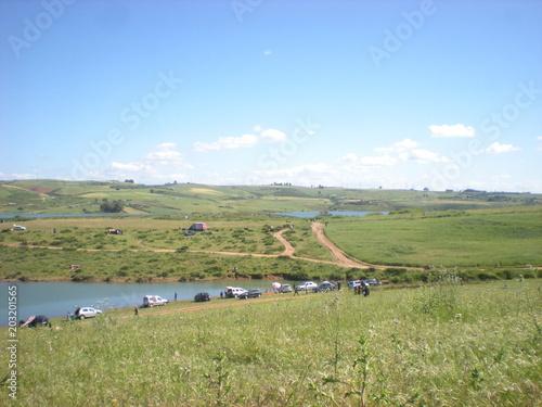 Foto op Canvas Pistache landscape