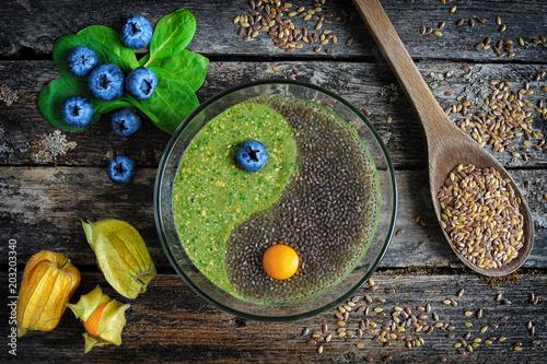 Fotografie, Obraz  Raw flaxseed porridge