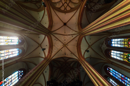 Photo The arches in the Church Of St. Mauritius in Olomouc
