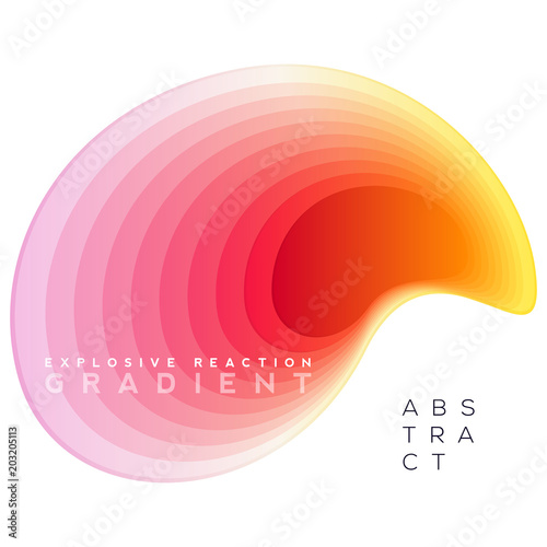 Photo  Explosive gradient banner composition, colorful topography blend shapes, Eps10 vector