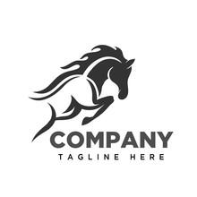 Jumping Horse Logo