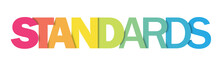 STANDARDS Colourful Vector Letter Icon