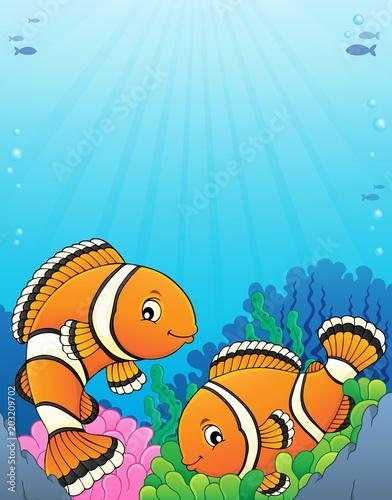 Foto op Canvas Voor kinderen Clownfish topic image 5