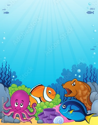Foto op Canvas Voor kinderen Coral fauna topic image 1