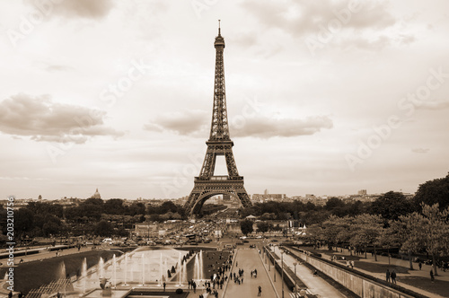 Fotobehang Parijs Tour Eiffel in Paris