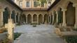 The interior courtyard of Stavropoleos Church