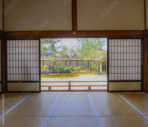 Foto op Plexiglas Bamboe 高台寺の風景