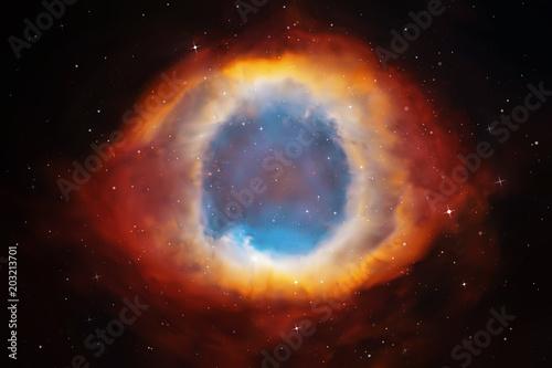 Obraz na plátně Vector illustration with Helix Nebula