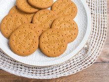 Digestive Biscuits In A Plate