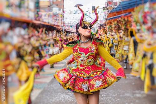 Dancers at Oruro Carnival in Bolivia, declared UNESCO Cultural World Heritag in Poster Mural XXL