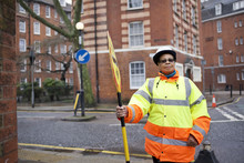 Portrait Of A Crossing Guard